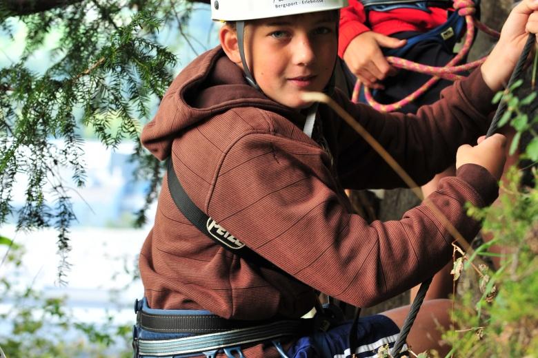 Wolfgang Schallert Klettern für Anfänger am Lünsersee, Sommerurlaub in Vorarlberg
