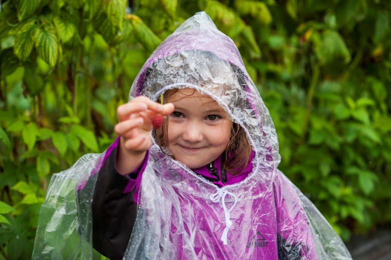 Familienwanderung im Regen, Hotel Lagant