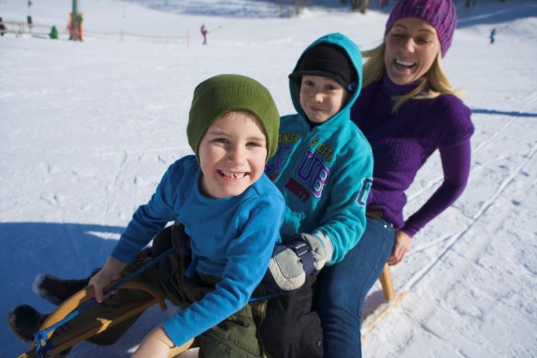 Familien im Winter, Rodeln in Vorarlberg
