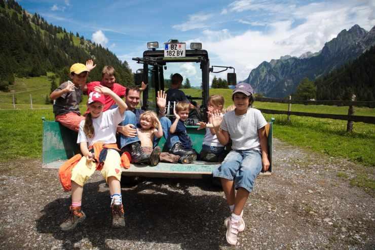 Abenteuerprogramm für Eltern und Kinder, Kinderhotel Lagant