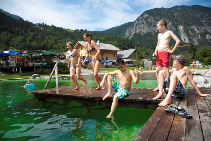 Naturbadesee, Hotel mit Badeteich, Sommerurlaub in Vorarlberg