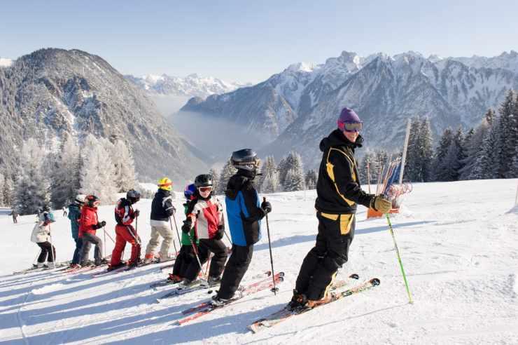 Skikurse für Kinder im Familienhotel Lagant