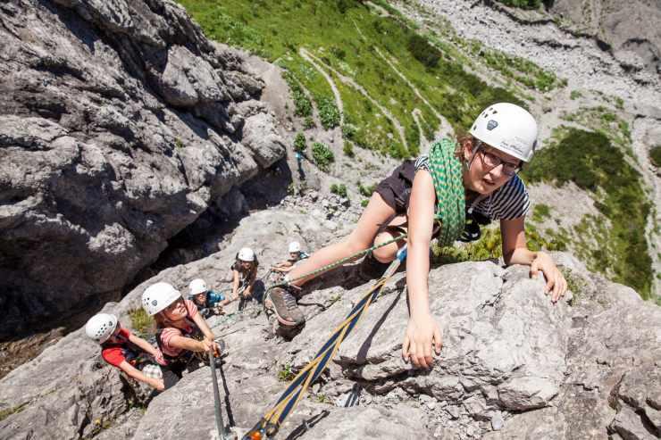 Abenteuerprogramm, Kletterparcours Brand, Vorarlberg