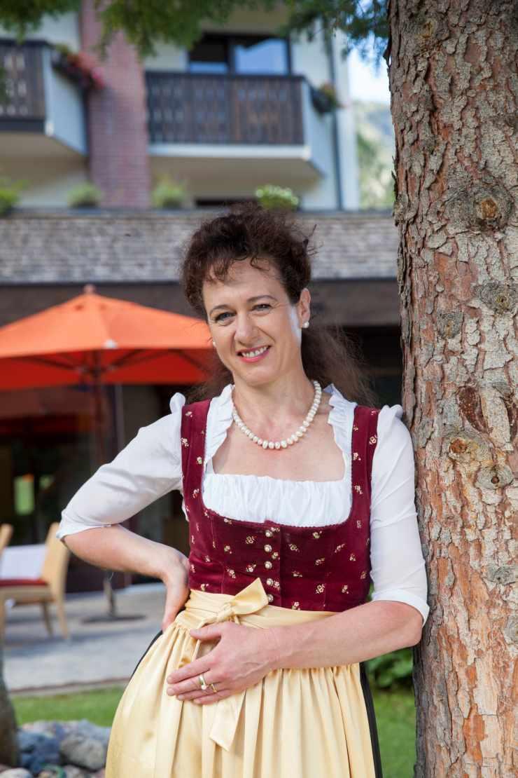 Gastgeberin Sonja Feurstein, Familienhotel Lagant