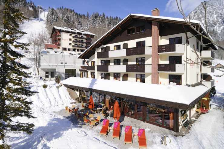 Hotel im Skiegebiet Brand, Vorarlberg