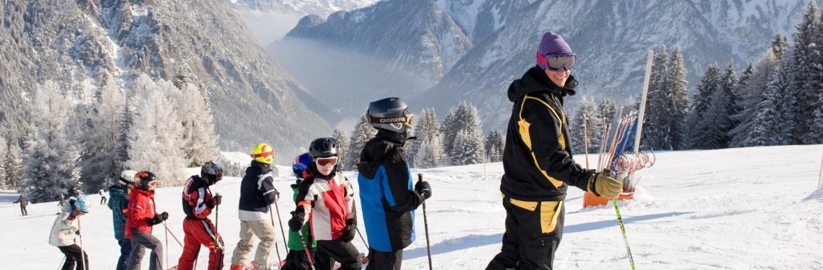 Skigebiet Brandnertal, Montafon in Vorarlberg, Österreich