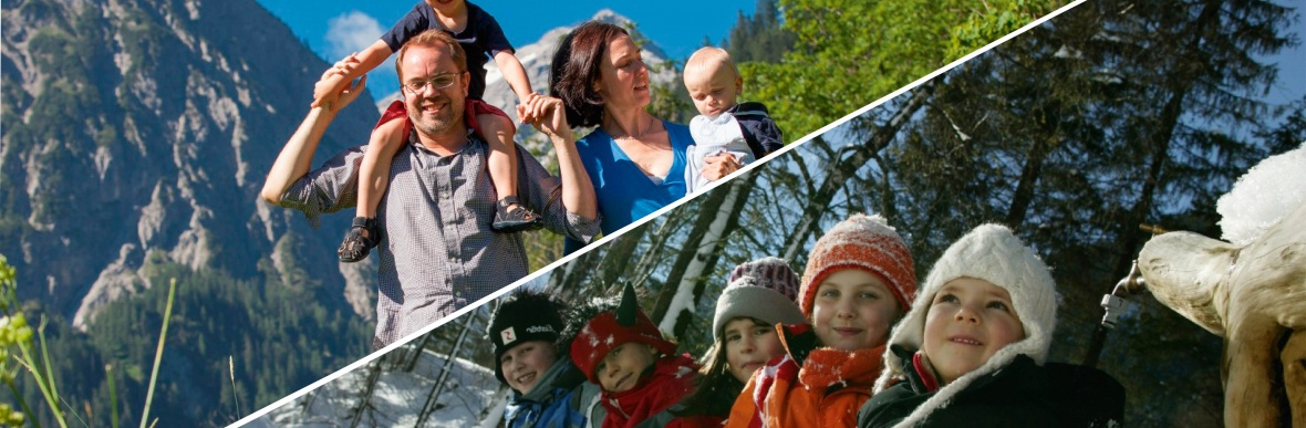 familyholidays in the austrian mountains, childrenhotel Lagant in Brand