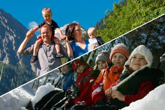Familienglück Angebot für Familienurlaub im Winter und Sommer