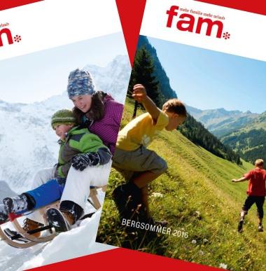 Sommerkatalog, Winterkatalog, Familienkatalog, Familienferien