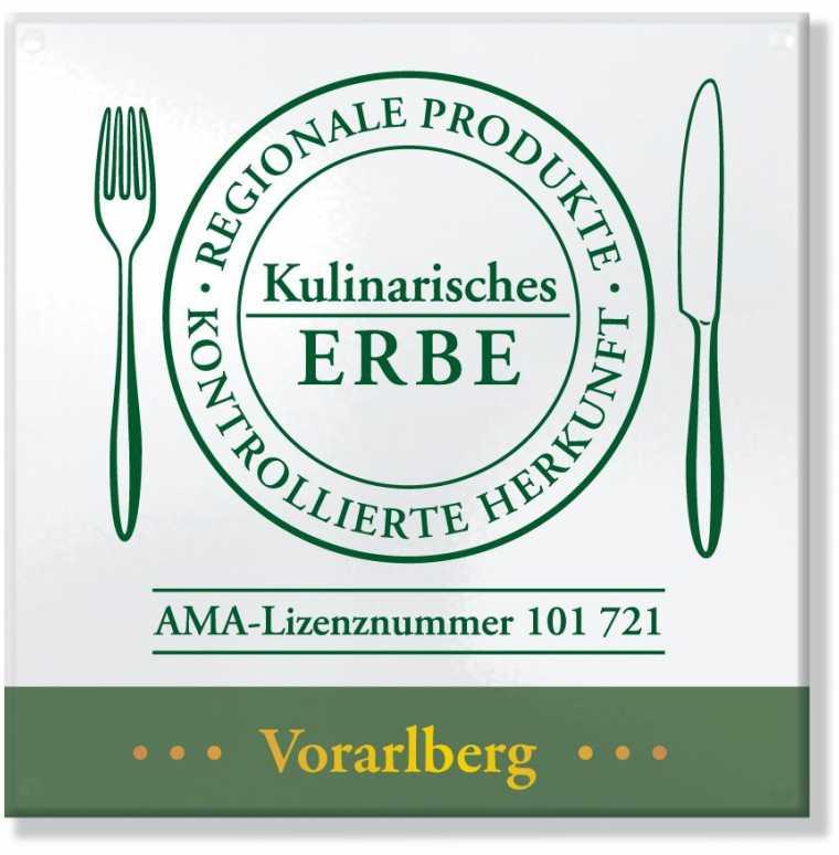 AMA-Gastrosiegel für das Hotel Lagant in Vorarlberg