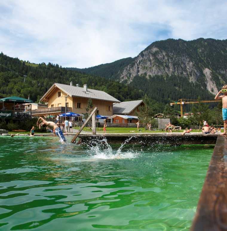 Badeurlaub in den Bergen, Brandndertal, Vorarlberg