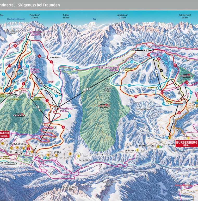 Skigebiet Brandnertal, Vorarlberg, Skigebiet Montafon, Familienhotel im Skigebiet, Hotel an der Piste