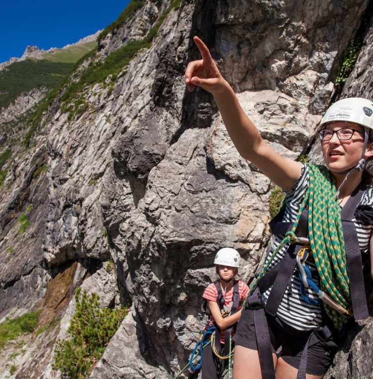 Klettern im Familienurlaub, Abenteuerwoche mit Free Motion Wolfgang Schallert