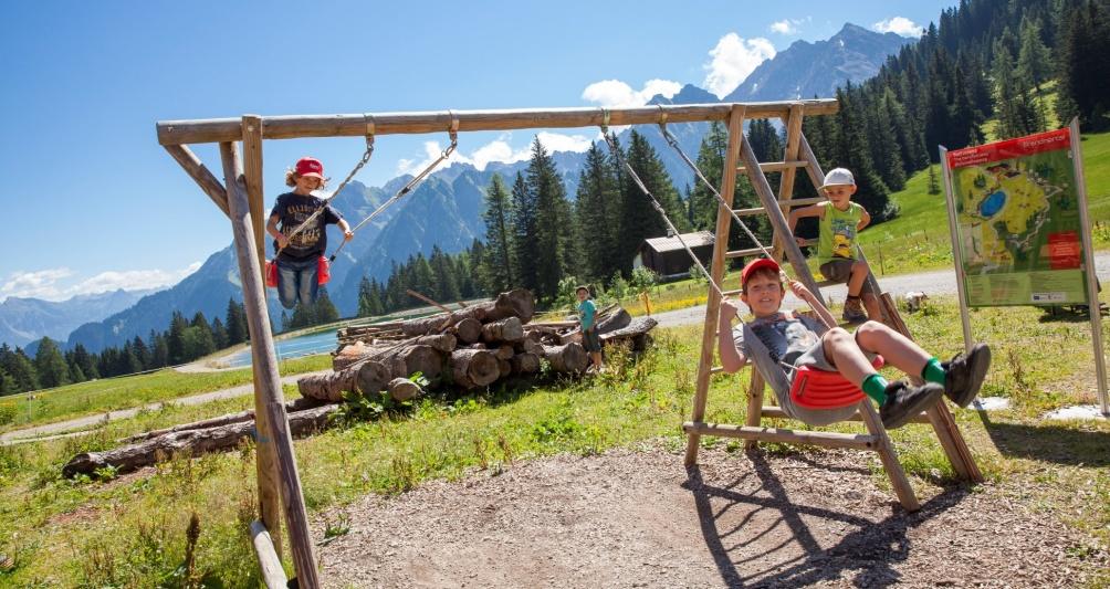 Spielplatz Brandnertal, Familienurlaub in Vorarlberg