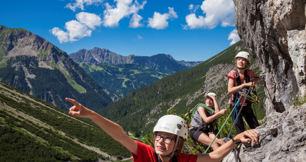 Klettern im Familienort Brand, Vorarlberg