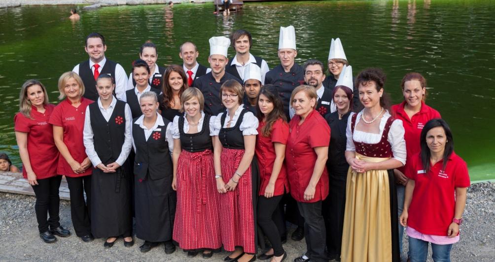 Familienhotel Lagant in Brand, Vorarlberg mit den Mitarbeitern