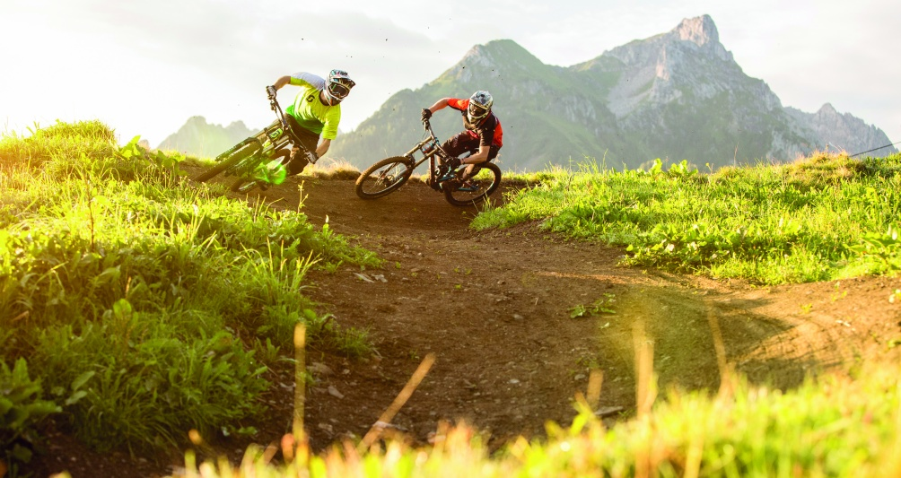 Mountainbiken im Brandnertal, Vorarlberg